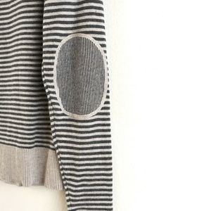 Banana Republic Stripe Top With Elbow Patch